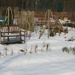winter bankje